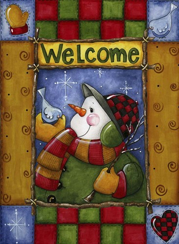 Woodland Snowman Poster by Maureen Lisa Costello for $41.25 CAD