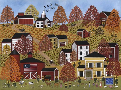 Autumn Hills Poster by Medana Gabbard for $41.25 CAD