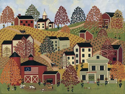 Country Hills Poster by Medana Gabbard for $41.25 CAD