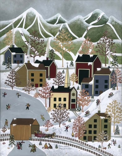 Playing In The Snow Poster by Medana Gabbard for $40.00 CAD