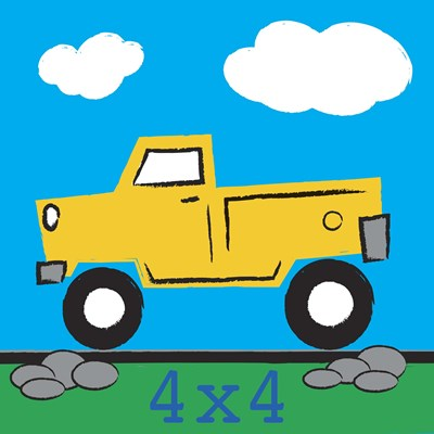4x4 Truck Poster by Melanie Parker for $63.75 CAD
