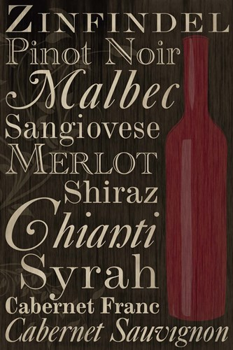 Red Red Wine Bottles Poster by Melanie Parker for $43.75 CAD