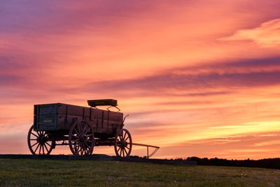 Wagon Afire Poster by Michael Blanchette Photography for $43.75 CAD