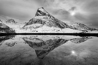 Finnbyen Mountain BW Poster by Michael Blanchette Photography for $43.75 CAD