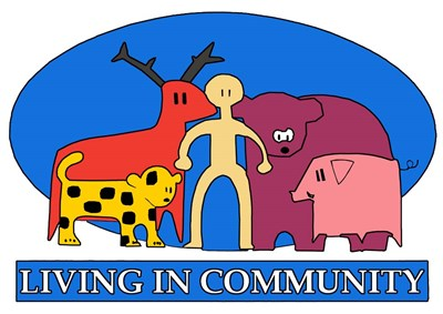 Living in Community Poster by Miguel Balbas for $40.00 CAD