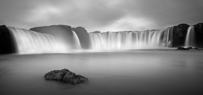Godafoss Panorama 1 Poster by Moises Levy for $102.50 CAD