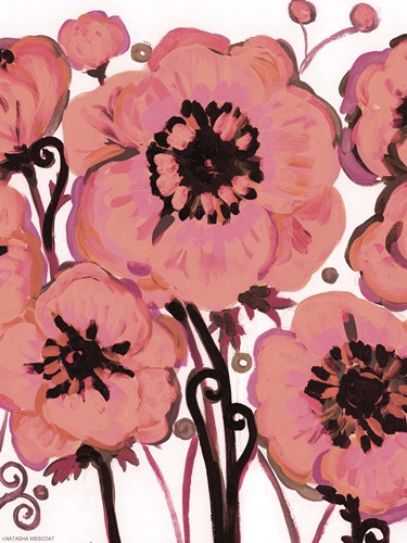 Hot Pink Blooms Poster by Natasha Wescoat for $95.00 CAD