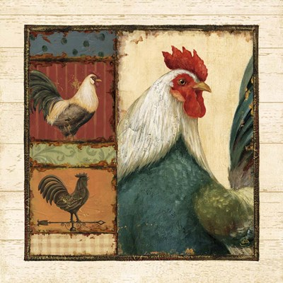 Rooster Portraits I (trio) Poster by Daphne Brissonnet for $35.00 CAD