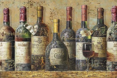 Wine Collection I Poster by NBL Studio for $38.75 CAD