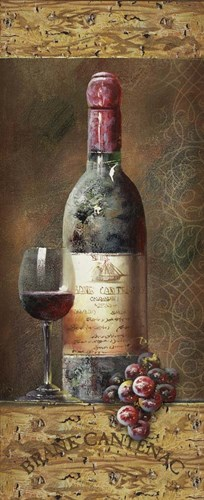 Wine Collection III Poster by NBL Studio for $36.25 CAD