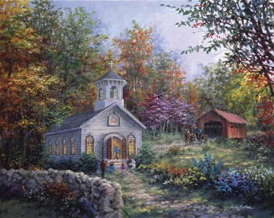 Worship In The Country Poster by Nicky Boehme for $102.50 CAD