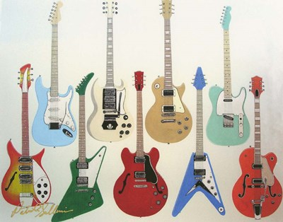 Guitars Poster by Patrick Sullivan for $68.75 CAD