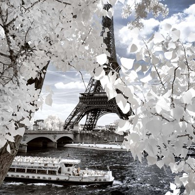 White Eiffel Poster by Philippe Hugonnard for $56.25 CAD