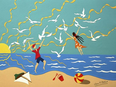 At the Beach Poster by Pierre H. Matisse for $41.25 CAD