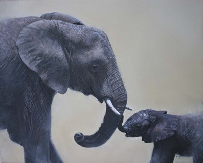 Ele and Baby Mara Poster by Pip McGarry for $70.00 CAD