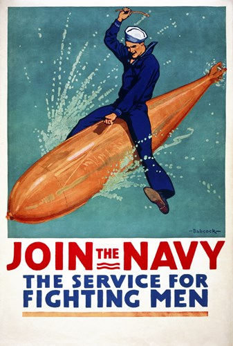 Join the Navy, the Service for Fighting Men Poster by Print Collection for $101.25 CAD