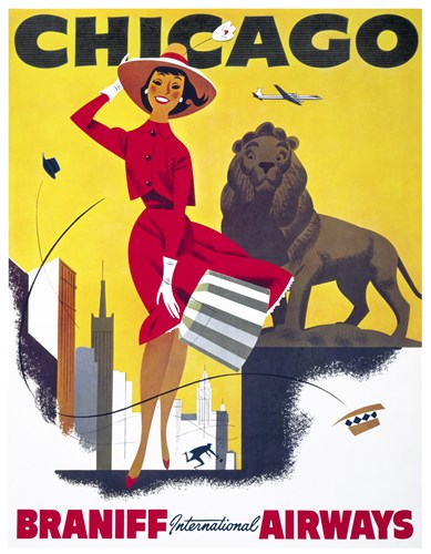 Chicago, Braniff International Airways Poster by Print Collection for $92.50 CAD