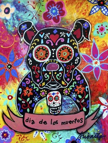 Dia De Los Muertos Bulldog Poster by Prisarts for $41.25 CAD