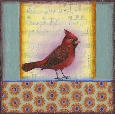 Cardinal on Music Notes 2 Poster by Rachel Paxton for $78.75 CAD