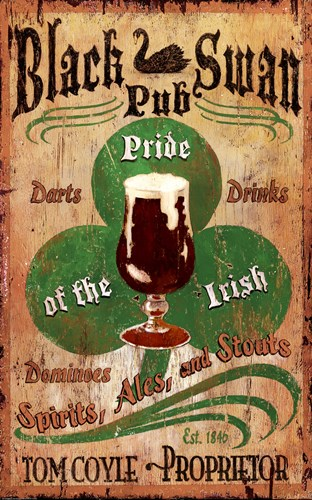 Irish Pub Poster by Red Horse Signs for $60.00 CAD