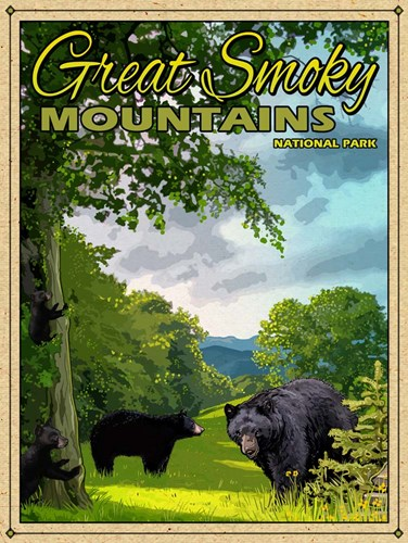 Smoky Mountains Poster by Old Red Truck for $41.25 CAD