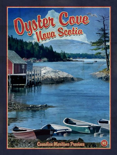 Oyster Cove Nova Scotia Poster by Old Red Truck for $41.25 CAD
