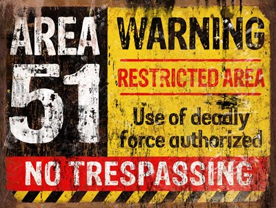 Area 51 Horiz Poster by RetroPlanet for $41.25 CAD