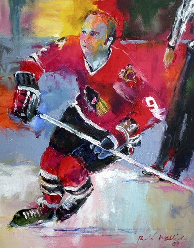 Bobby Hull Poster by Richard Wallich for $40.00 CAD