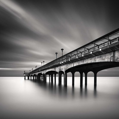 Boscombe Pier Poster by Rob Cherry for $35.00 CAD