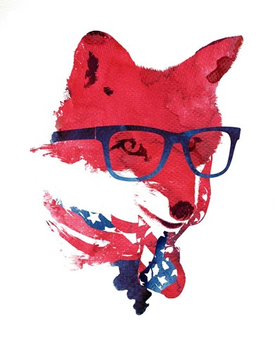 American Fox Poster by Robert Farkas for $56.25 CAD