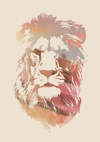 Desert Lion Poster by Robert Farkas for $42.50 CAD