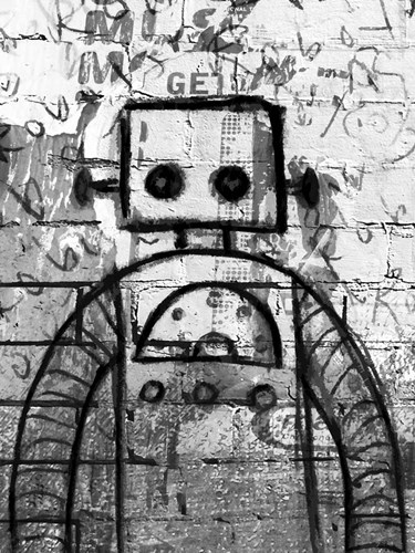 Graffiti Robot Poster by Roseanne Jones for $67.50 CAD