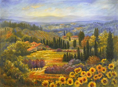 Tuscan Countryside Poster by Rosanne Kaloustian for $66.25 CAD