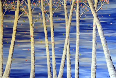 Winter Birch Poster by Sarah Tiffany King for $45.00 CAD