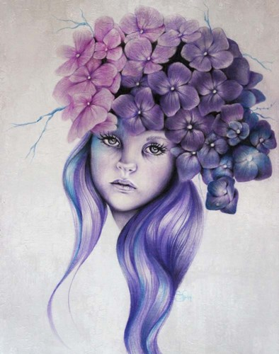 Hydrangea - Pixie Blossoms Poster by Sheena Pike Art And Illustration for $56.25 CAD