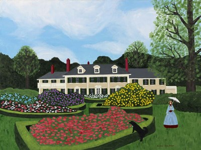 Afternoon Stroll At Hildene Poster by Susan C Houghton for $53.75 CAD