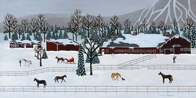 Horse Farm Poster by Susan C Houghton for $42.50 CAD