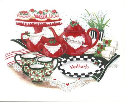 Ho Ho Ho Tea Poster by Susan Rios for $43.75 CAD