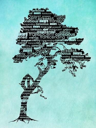 Bhakti-Bodhi Tree-Blue Poster by Tammy Wetzel for $41.25 CAD