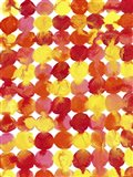 Pink Yellow Red Orange Flowing Paint