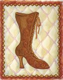Boots Brown With Curlicues
