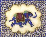 Elephant Cartouche facing right