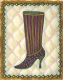 Boots Striped With Paisley
