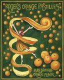 Food Labels Orange Pastilles