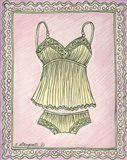 Lingerie Yellow Cami Set