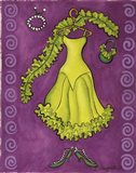 Paris Gowns Lime Green Ruffled