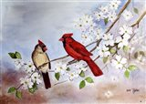 Cardinals and Dogwood