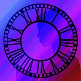 Clock Face on Purple