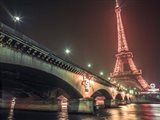 Eiffel & Bridge at Night