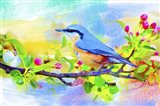 Spring Flowers And Bird 6